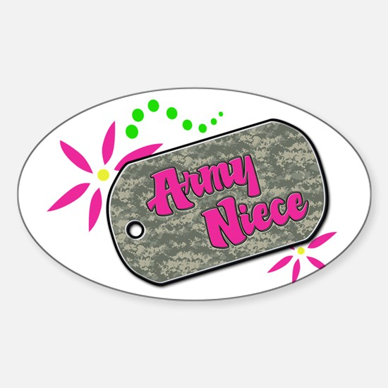 Army Niece Oval Decal