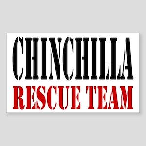 Chinchilla Rescue no fur Rectangle Sticker