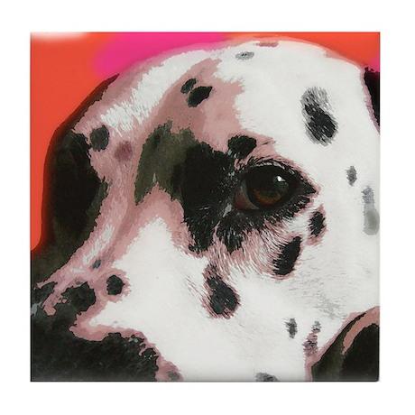 Dalmatian Dog Art Tile Coaster