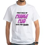 Obama Change Club White T-Shirt