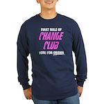 Obama Change Club Long Sleeve Dark T-Shirt