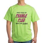 Obama Change Club Green T-Shirt