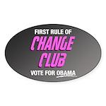 Obama Change Club Oval Sticker (10 pk)