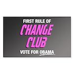 Obama Change Club Rectangle Sticker 10 pk)