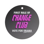 Obama Change Club Ornament (Round)
