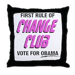 Obama Change Club Throw Pillow