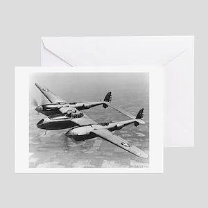 P-38 Lightning Greeting Cards (Pk of 10)