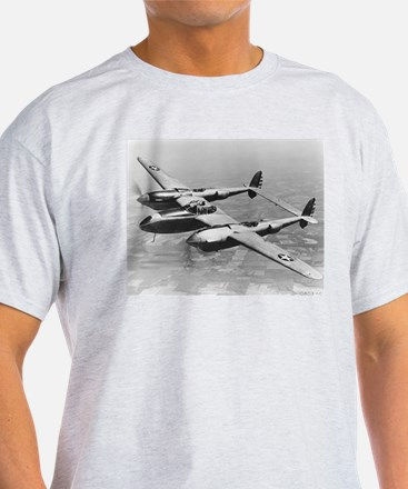 P-38 Lightning Ash Grey T-Shirt