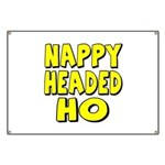 Nappy Headed Ho Yellow Design Banner