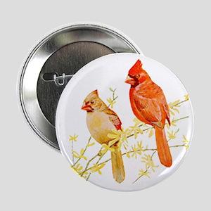 """Red Cardinal Bird 2.25"""" Button"""