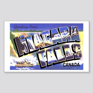Niagara Falls Canada Rectangle Sticker