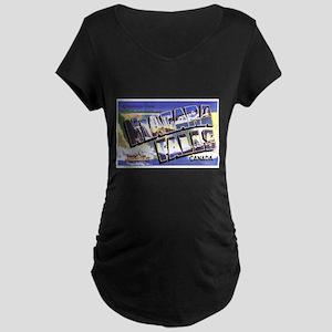 Niagara Falls Canada (Front) Maternity Dark T-Shir