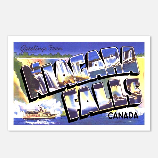 Niagara Falls Canada Postcards (Package of 8)