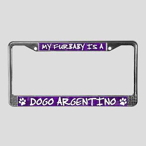 Furbaby Dogo Argentino License Plate Frame