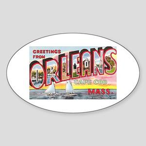 Orleans Cape Cod Massachusetts Oval Sticker