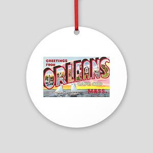 Orleans Cape Cod Massachusetts Ornament (Round)