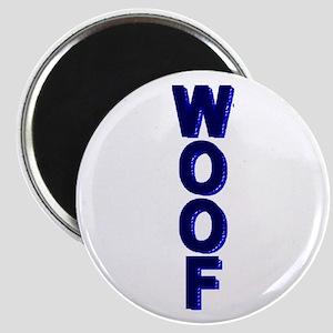 WOOF/DARK BLUE MOSAIC Magnet