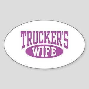 Trucker's Wife Oval Sticker