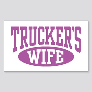 Trucker's Wife Rectangle Sticker