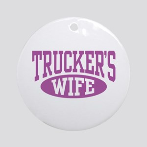 Trucker's Wife Ornament (Round)
