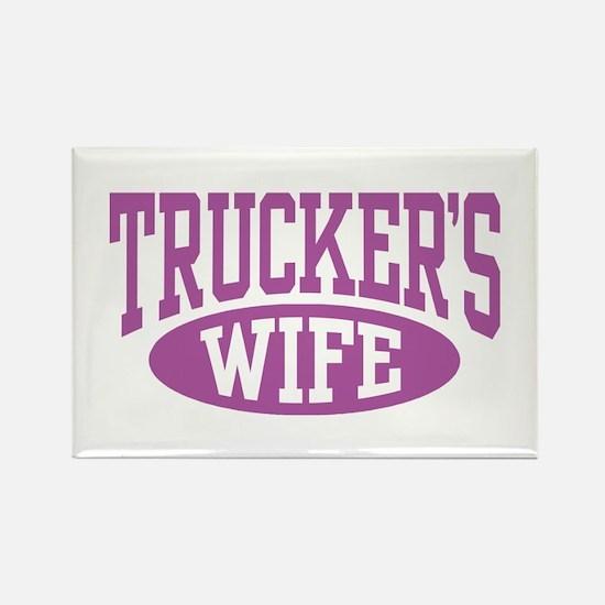 Trucker's Wife Rectangle Magnet
