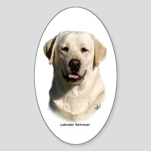 Labrador Retriever 9Y383D-267 Sticker (Oval)