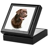 Chocolate labrador retriever Square Keepsake Boxes