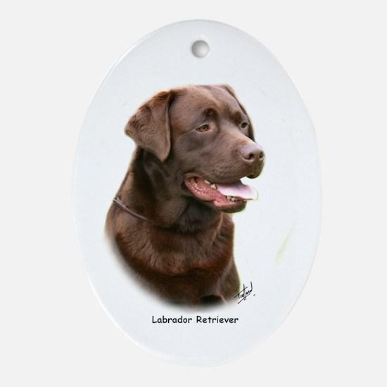 Labrador Retriever 9Y243D-004a Ornament (Oval)