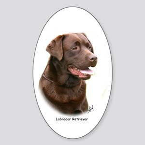 Labrador Retriever 9Y243D-004a Sticker (Oval)