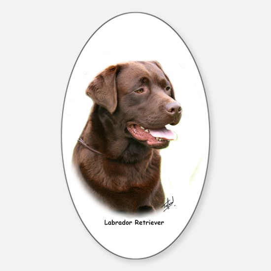 Labrador Retriever 9Y243D-004a Sticker (Oval)