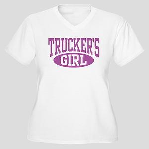 Trucker's Girl Women's Plus Size V-Neck T-Shirt