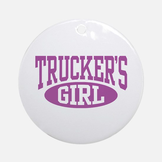 Trucker's Girl Ornament (Round)