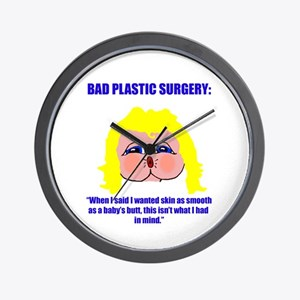 Bad Plastic Surgery Wall Clock