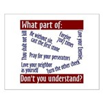 Small Poster - What part of... Don't you understa