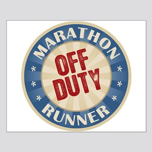 Off Duty Marathon Runner Small Poster