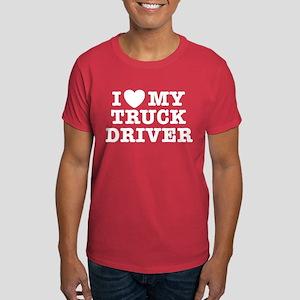 I Love My Truck Driver Dark T-Shirt