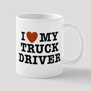 I Love My Truck Driver Mug