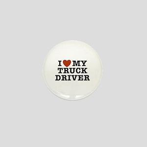 I Love My Truck Driver Mini Button