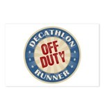 Off Duty Decathlon Runner Postcards (Package of 8)