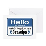 Hello New Grandpa Greeting Cards (Pk of 10)