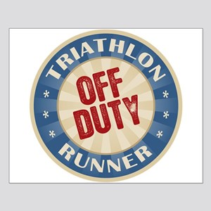 Off Duty Triathlon Runner Small Poster