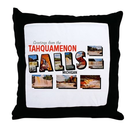 Tahquamenon Falls Michigan Throw Pillow