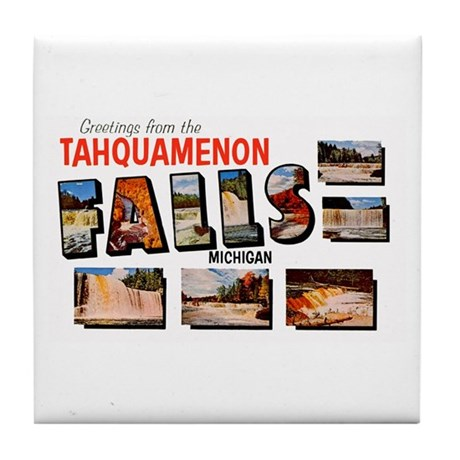 Tahquamenon Falls Michigan Tile Coaster