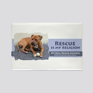 Rescue is my religion Rectangle Magnet