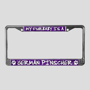Furbaby German Pinscher License Plate Frame