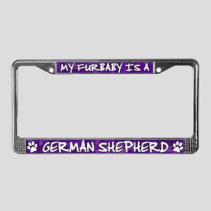 Furbaby German Shepherd License Plate Frame