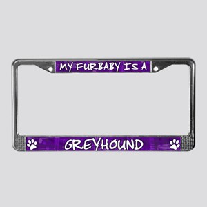 Furbaby Greyhound License Plate Frame
