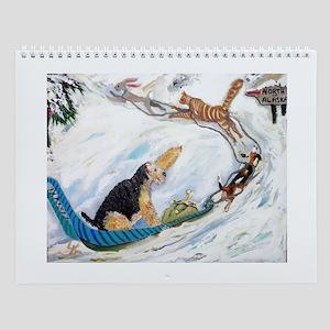 Airedale Calendar w/12 images Wall Calendar