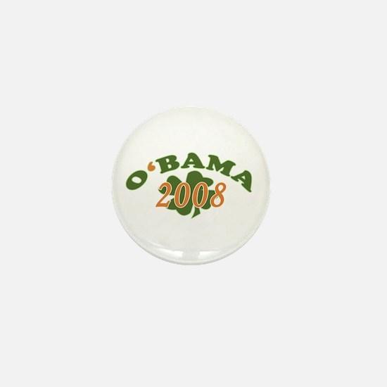 Obama 2008 Shamrock Mini Button