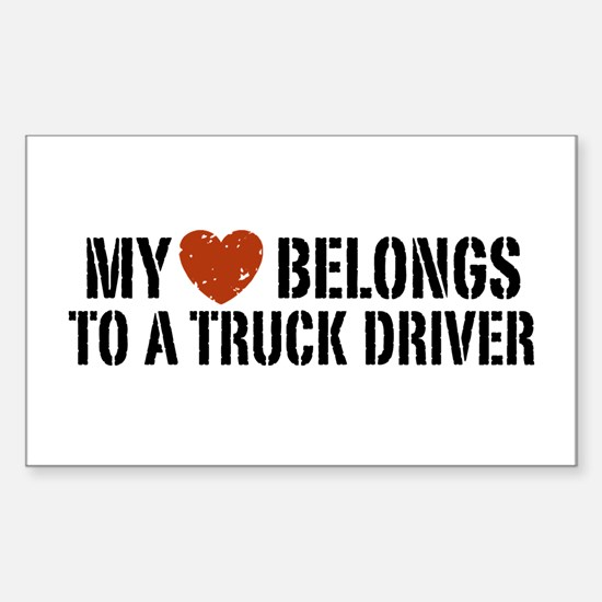My Heart Belongs to a Truck Driver Decal